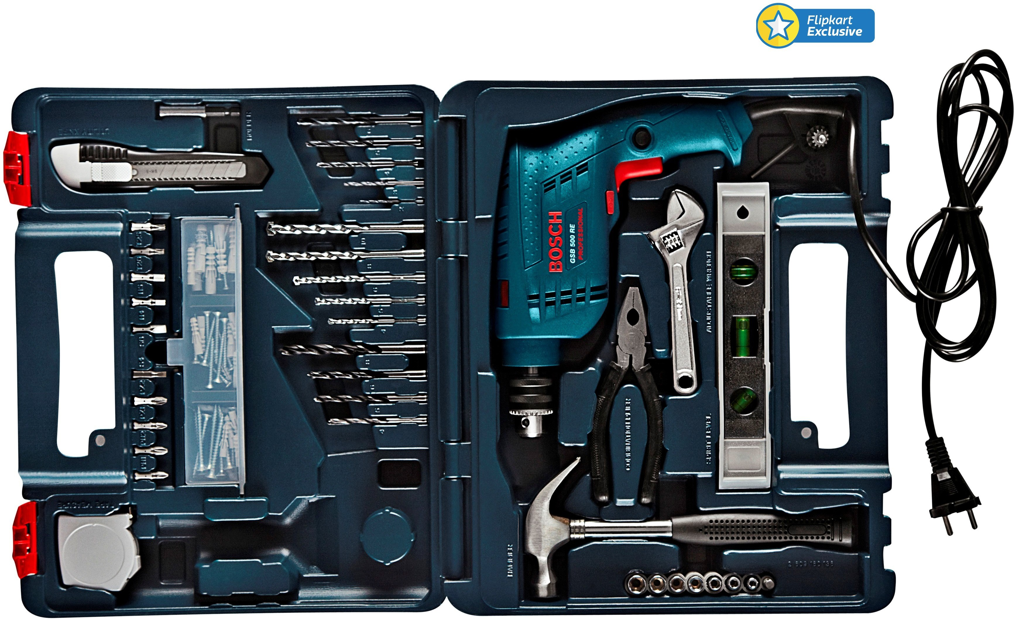 bosch gsb 500 re home tool kit power hand tool kit price in india buy bosch gsb 500 re home. Black Bedroom Furniture Sets. Home Design Ideas
