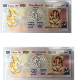 Kataria Jewellers Ganesh 999 Purity Silver Silver Currency