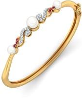 BlueStone The Enchanting Melody Yellow Gold 14kt Diamond, Ruby, Pearl Bangle
