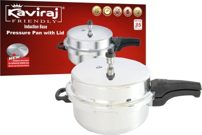 Kaviraj 5 L Pressure Pan (Induction Bottom, Aluminium)
