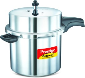 Deluxe Plus Aluminium 12 L Pressure Cooker (Induction Bottom, Outer Lid)