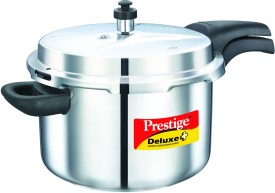 Deluxe Alpha Stainless Steel 8 L Pressure Cooker (Induction Bottom, Outer Lid)