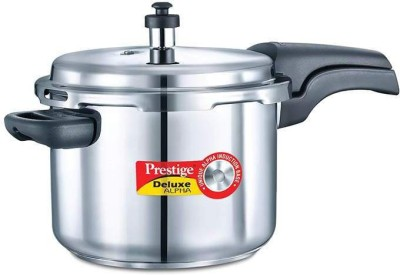 Deluxe Alpha Stainless Steel 6.5 L Pressure Cooker (Induction Bottom, Outer Lid)