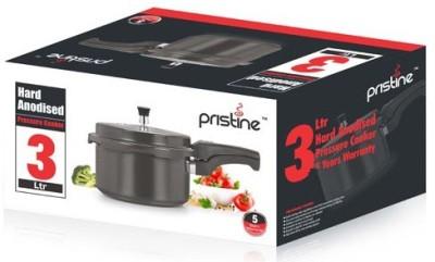 Pristine Hard Anodised 3 L Pressure Cooker (Aluminium)