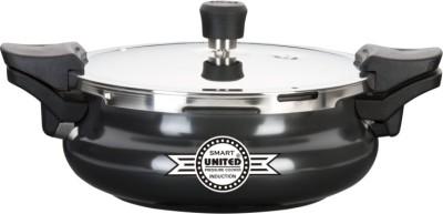 United SMART (Cooker+Strainer+Server) Hard Anodized 3 L Pressure Cooker (Induction Bottom, Aluminium)