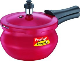 Deluxe Plus Baby Red Handi Aluminium 2 L Pressure Cooker (Induction Bottom, Outer Lid)