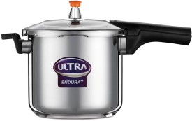 Endura Stainless Steel 8 L Pressure Cooker (Induction Bottom)