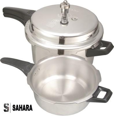 Sahara Sahara Global 5 + 2.5 Litre Combo Pack 5 L, 2.5 L Pressure Cooker & Pressure Pan (Aluminium)