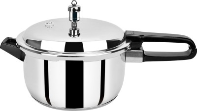 Pristine Induction Compatible 5 L Pressure Cooker (Induction Bottom, Stainless Steel)