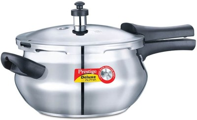 Prestige Alpha Handi Stainless Steel 4.4 L Pressure Cooker (Induction Bottom,Outer Lid)