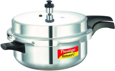 Deluxe Plus Senior Alunminium 5 L Pressure Cooker (Induction Bottom, Outer Lid)