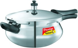 Deluxe Plus Junior Handi Aluminium 4.8 L Pressure Cooker (Induction Bottom, Outer Lid)