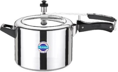 Amul Delux Inner Lid 5 Ltr Aluminium Pressure Cooker 5 L Pressure Cooker (Induction Bottom, Aluminium)