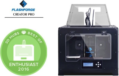 Flashforge Creator Pro Dual Extrusion 3D Printer Multi-function Printer (Black)