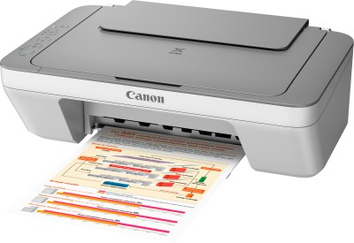 Canon PIXMA MG2470 All-in-One Inkjet Printer (Grey White)