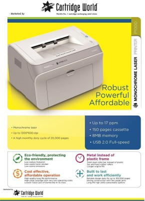 Cartridge World P1050 Single Function Printer (Black)