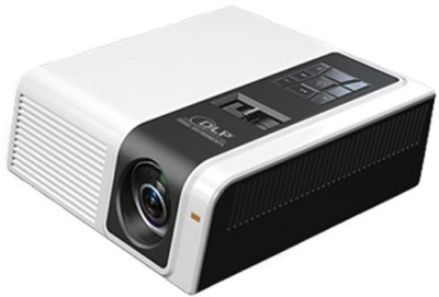 Devizer Gladioulus Portable Projector (White, Black)