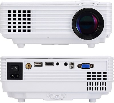 IBS 800 Lumens RD-805 Mini LED TV HDMI Multimedia Smart Lcd Video Home Theater 1080P Movie Cinema Digital Media Player 640*480 Support 100W 20000 Hours 5 Inch Black Portable Projector (WHITE, BLACK)