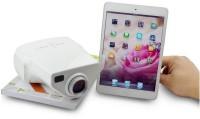 "Wonder World VAGAâ""¢ Home Cinema Theater Laptop VGA USB SD AV HDMI Video LED Portable Projector (White)"