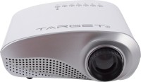 Target Mini LED Projector Portable Projector (White And Silver)