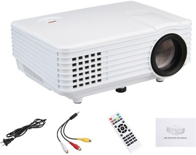 IBS 2200 Lumens Mini LED RD-801 Smart Lcd Video Home Theater 1080P Movie Player 50000/60000 Hours Life 5 Inch Displays Screen Black Portable Projector (WHITE, BLACK) - PROEJ8YG6GGKYSES