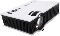Syntrino UC 40+ LED Projector USB/AV/SD/HDMI/VGA Input Portable Projector (White)