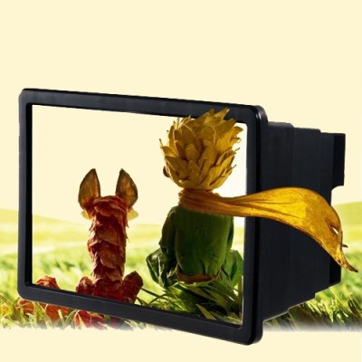 Evana For Amazing Universal F2 3D Enlarge Screen Magnifier Panasonic_Eluga_I Micro Portable Projector (Black)