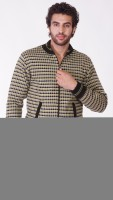 Oracle Front Open Self Design Men's Pullover