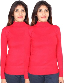 GnC Turtle Neck Solid Women's Pullover