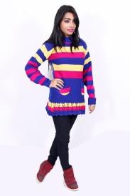 Nishaan Round Neck Striped Women's Pullover