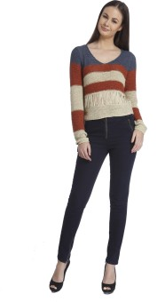 Only Round Neck Striped Women's Pullover