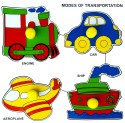 Little Genius Modes Of Transport Small With Big Knob - 4 Pieces