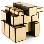 Homeshopeez Puzzles Homeshopeez Mirror Cube Golden