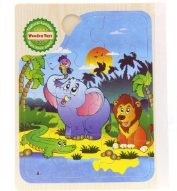 Treasure Trunk Book Puzzles - Elephant & Lion