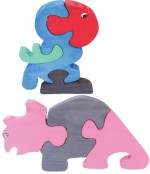 Enigmatic Woodworks Puzzles Enigmatic Woodworks Wooden Jigsaw Puzzle Parrot + Rhinoceros