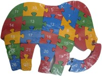 DCS Wooden Elephant Puzzle Toy With A-Z English Alphabet And Numbers Puzzle For Kids (1 Pieces)