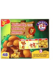 BPI Animals Their Babies And Homes- Bright Kids (48 Pieces)