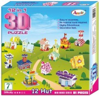ANNIE 12 IN 1 3D PUZZLE (81) PCS MINI HOUSE SERIES - (12 Pieces)