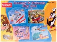 Funskool Looney And Friends Day Out 4-In-1 Puzzle Game (30 Pieces)