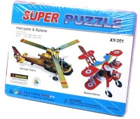 Lionsland Helicopter Plane Combo 3D Puzzle (25 Pieces)