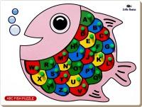 Little Genius Alphabet Fish Puzzle With Knob (26 Pieces)