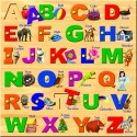 Prasima Toys Square Alphabet Puzzle - 26 Pieces