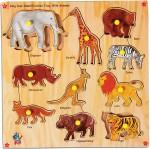 Skillofun Puzzles Skillofun Skillofun King Size Identification Tray Wild Animals
