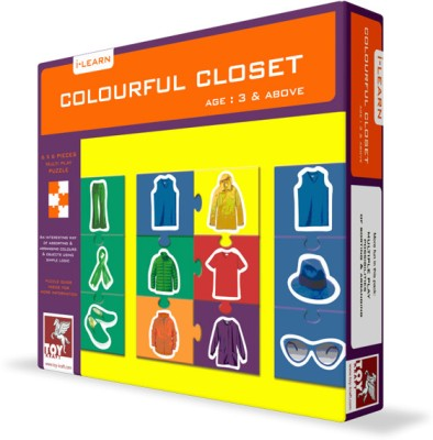 Toy Kraft Puzzles Toy Kraft Colourful Closet