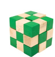 Kaatru Eco-friendly Bamboo Wooden Toys 3D Magic Cube Puzzle For Kids (1 Pieces)