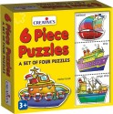 Creative's 6 Piece Puzzles - 24 Pieces