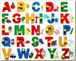 Little Genius Puzzles Little Genius Alphabet Picture Match with Knob