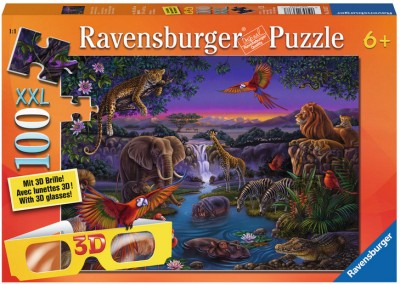 Ravensburger Puzzles Ravensburger African Animals at Night