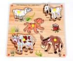 Skillofun Puzzles Skillofun Skillofun Junior Identification Tray Useful Animals I