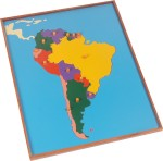 Kidken Puzzles Kidken Montessori Map Puzzle: South America